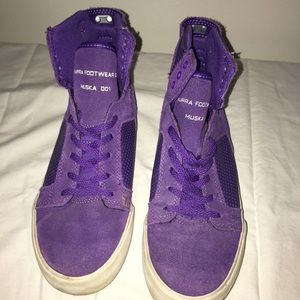 Purple Supra Muska 001 Sneakers